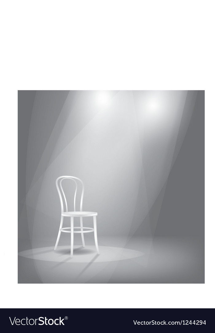 Stage in spotlights
