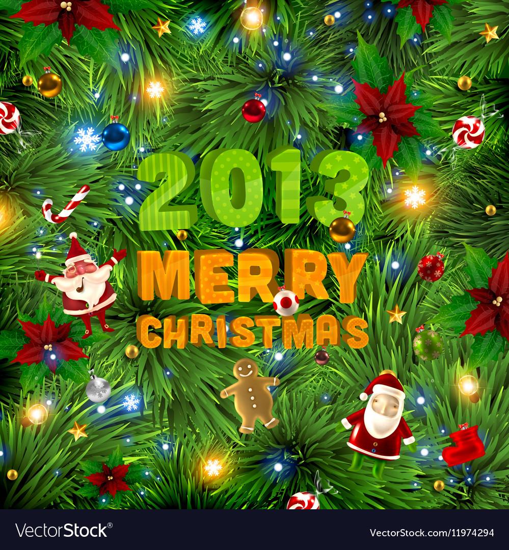 Traditional Christmas Lights.Traditional Christmas Background