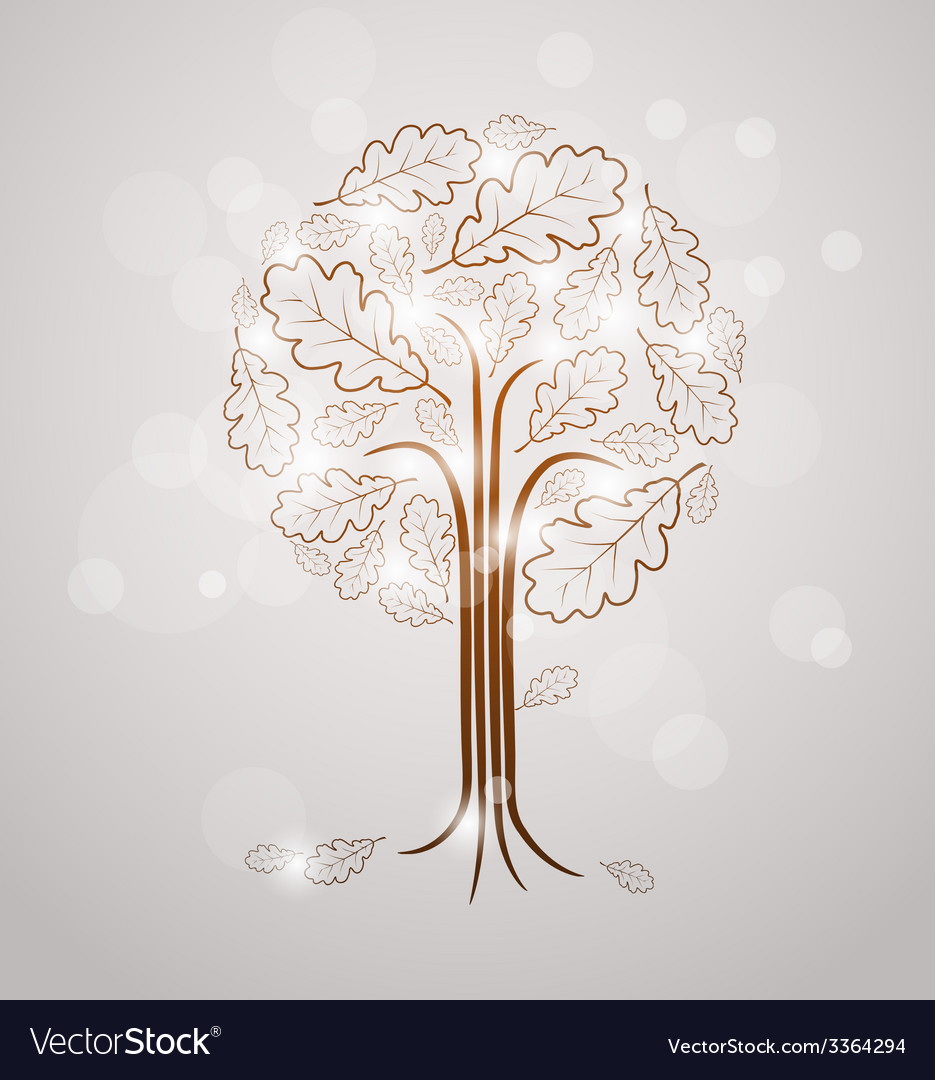 Vintage abstract tree drawing