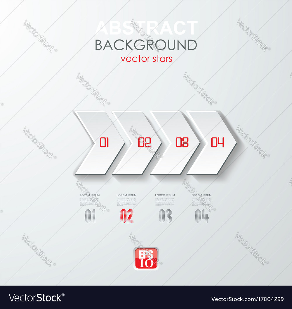 Abstract white paper arrow infographics with