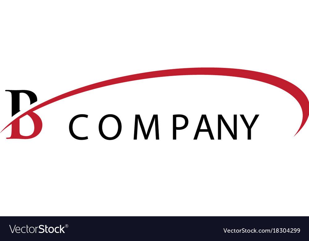 B letter swoosh logo