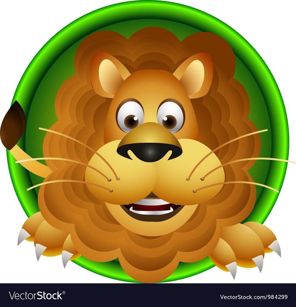 cute lion head cartoon royalty free vector image rh vectorstock com animated lion head cartoon lion head outline