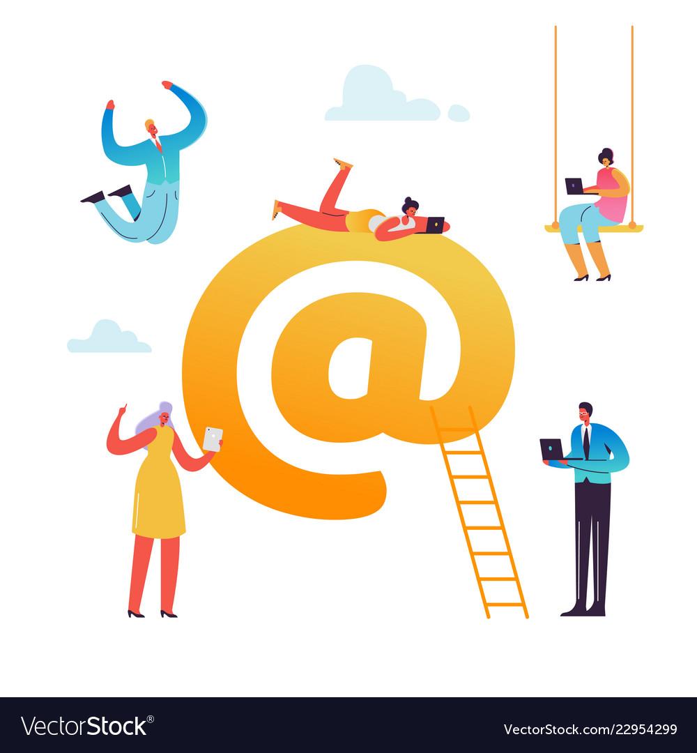 E-mail social media virtual communication concept