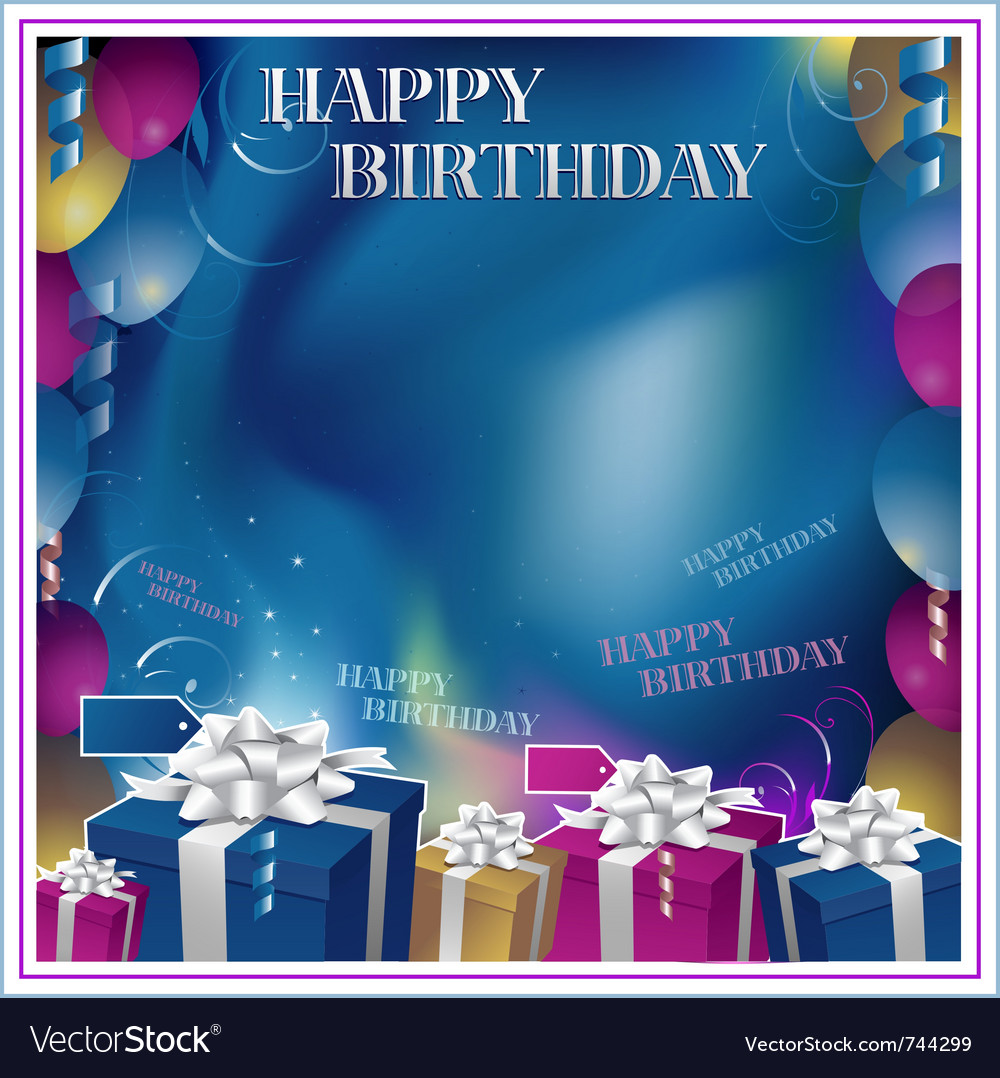 happy birthday background royalty free vector image