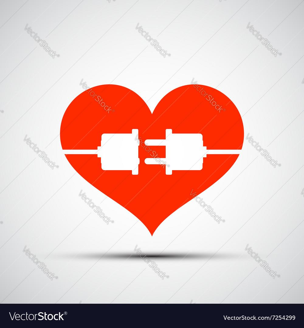 Heart logo Stock vector image