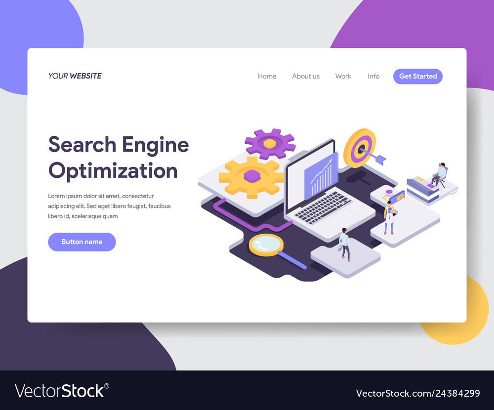Landing page template of search engine