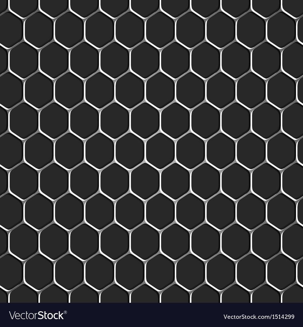 Monochromatic honeycomb seamless pattern