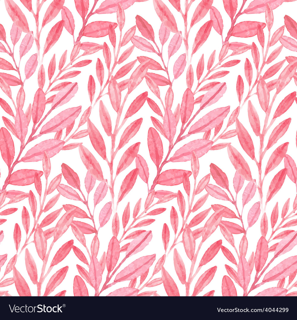 Seamless Pink pattern of leaves
