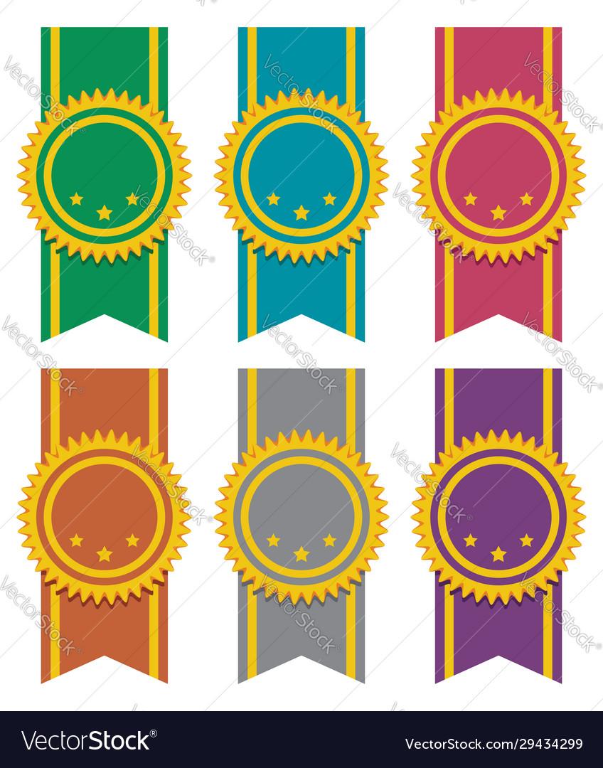 Set ribbon badges