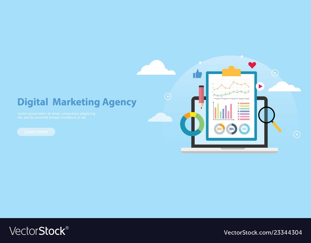 Digital marketing agency banner website template