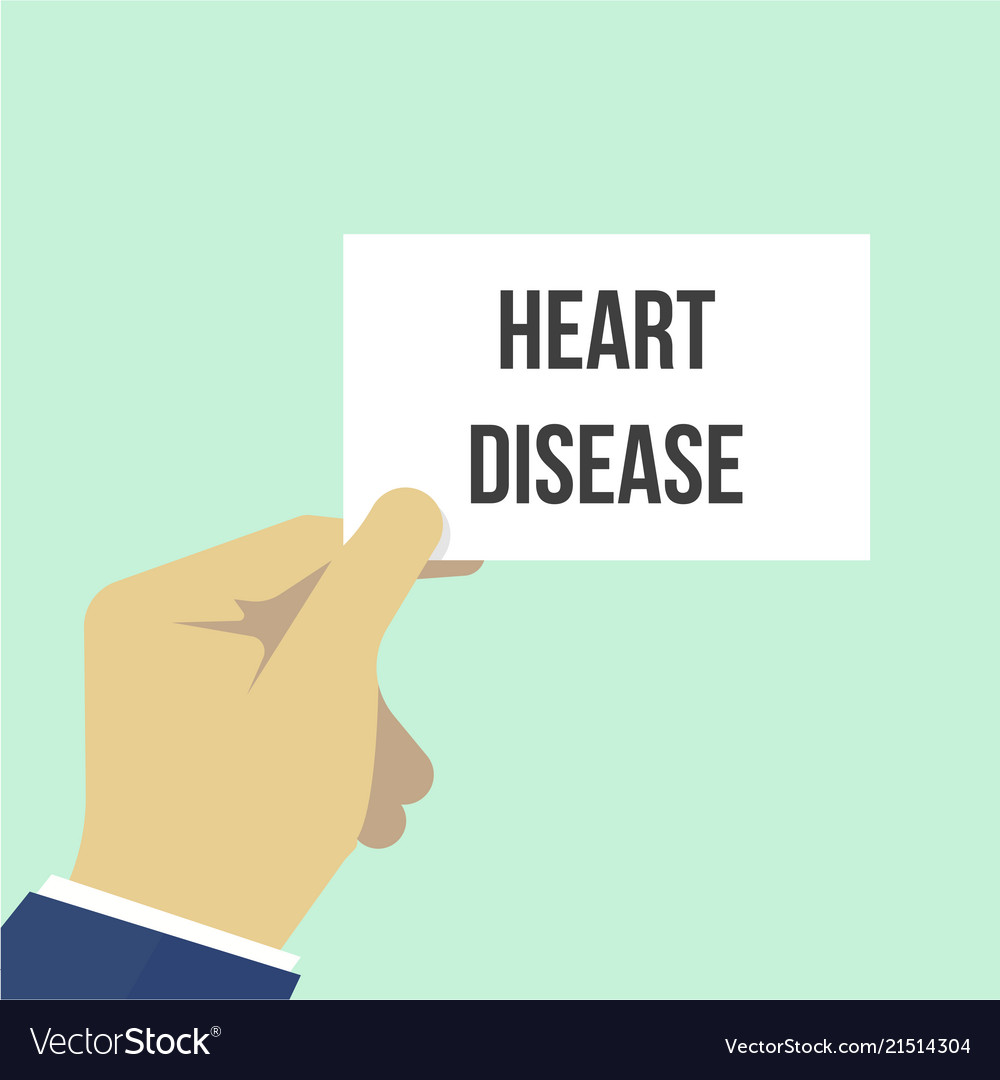 Man showing paper heart disease text