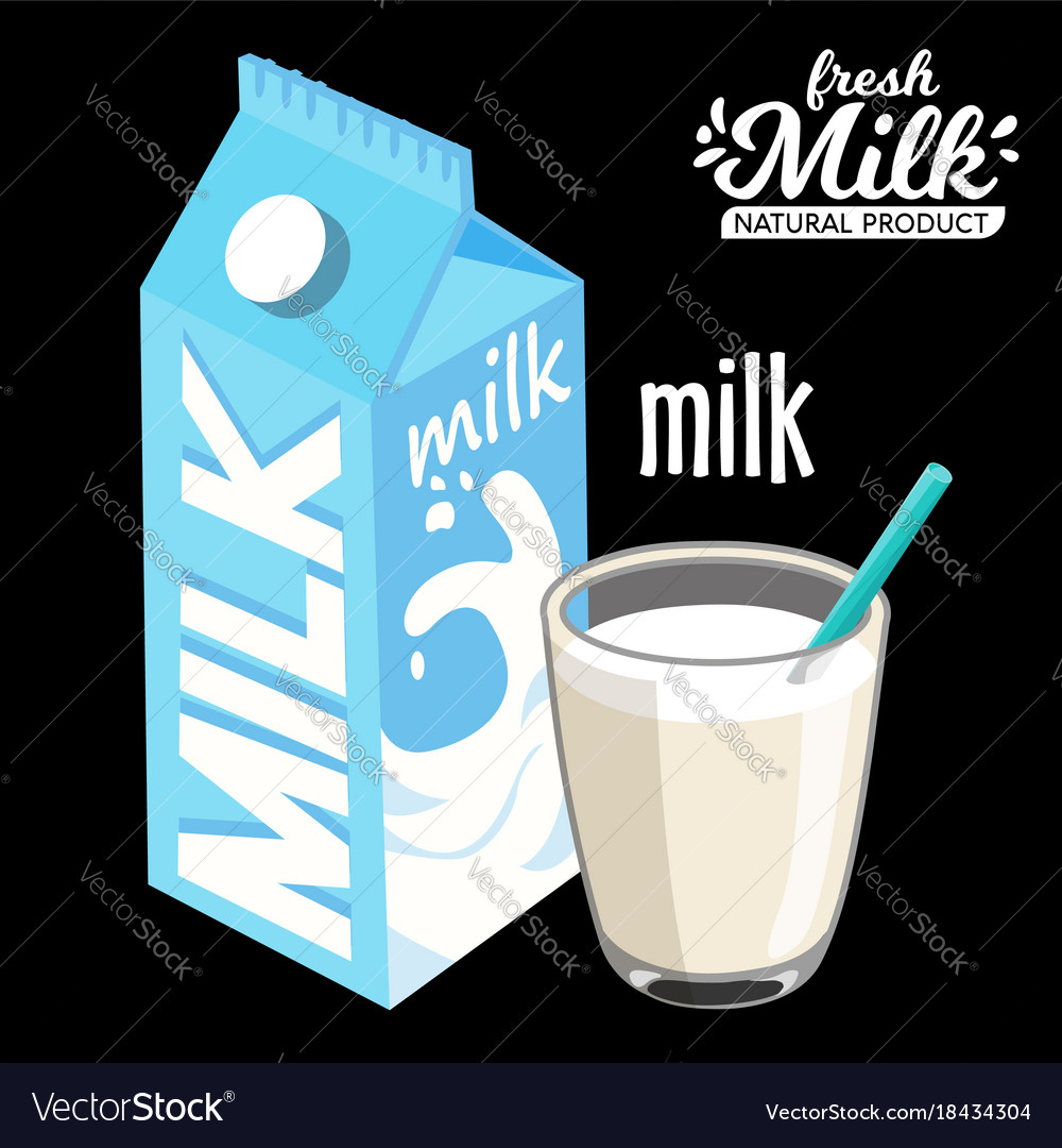 Milk pack and glass of milkmilk pack and glass of