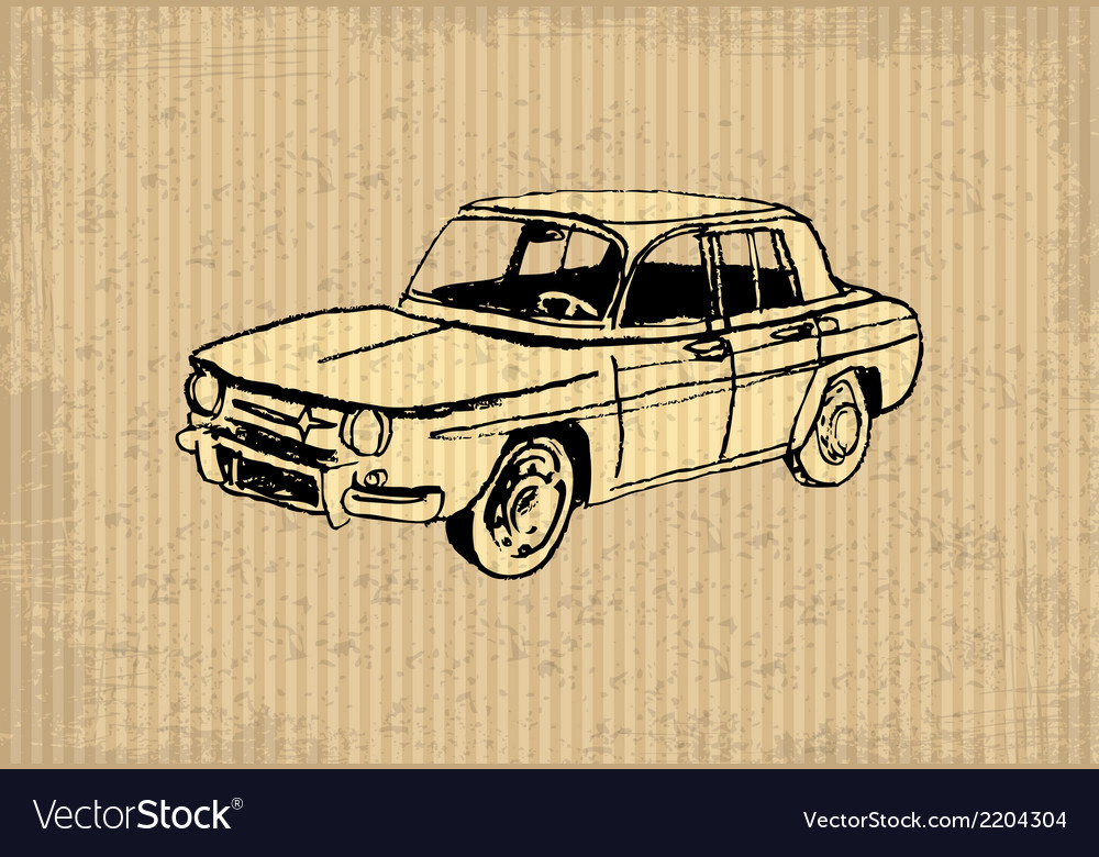 Oldtimer vector image
