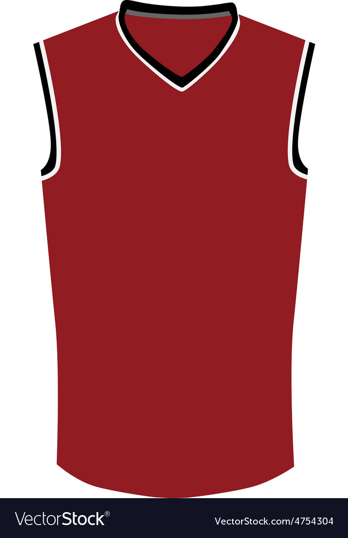 f138b4069269 Red basketball jersey Royalty Free Vector Image