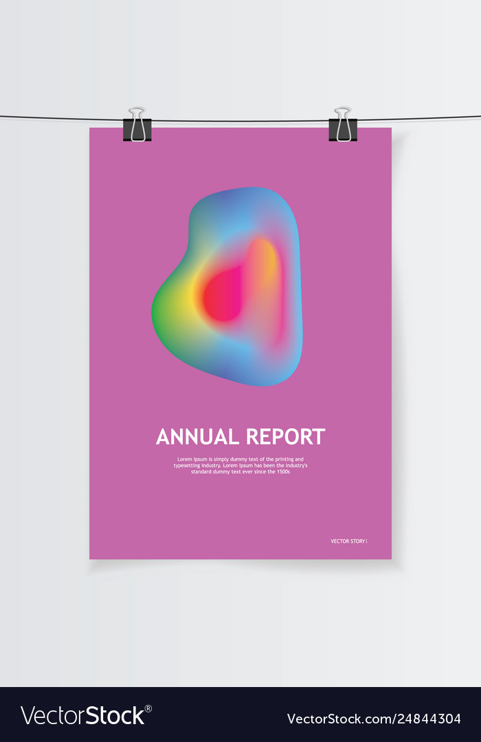 Templates design for brochure annual report and