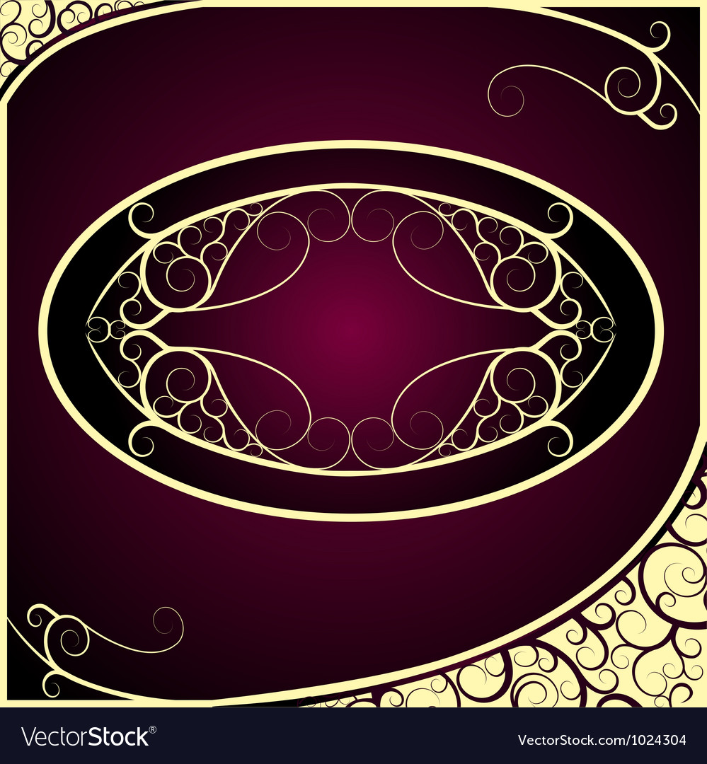 7313c7d7586f Vintage Golden Frame Background Royalty Free Vector Image