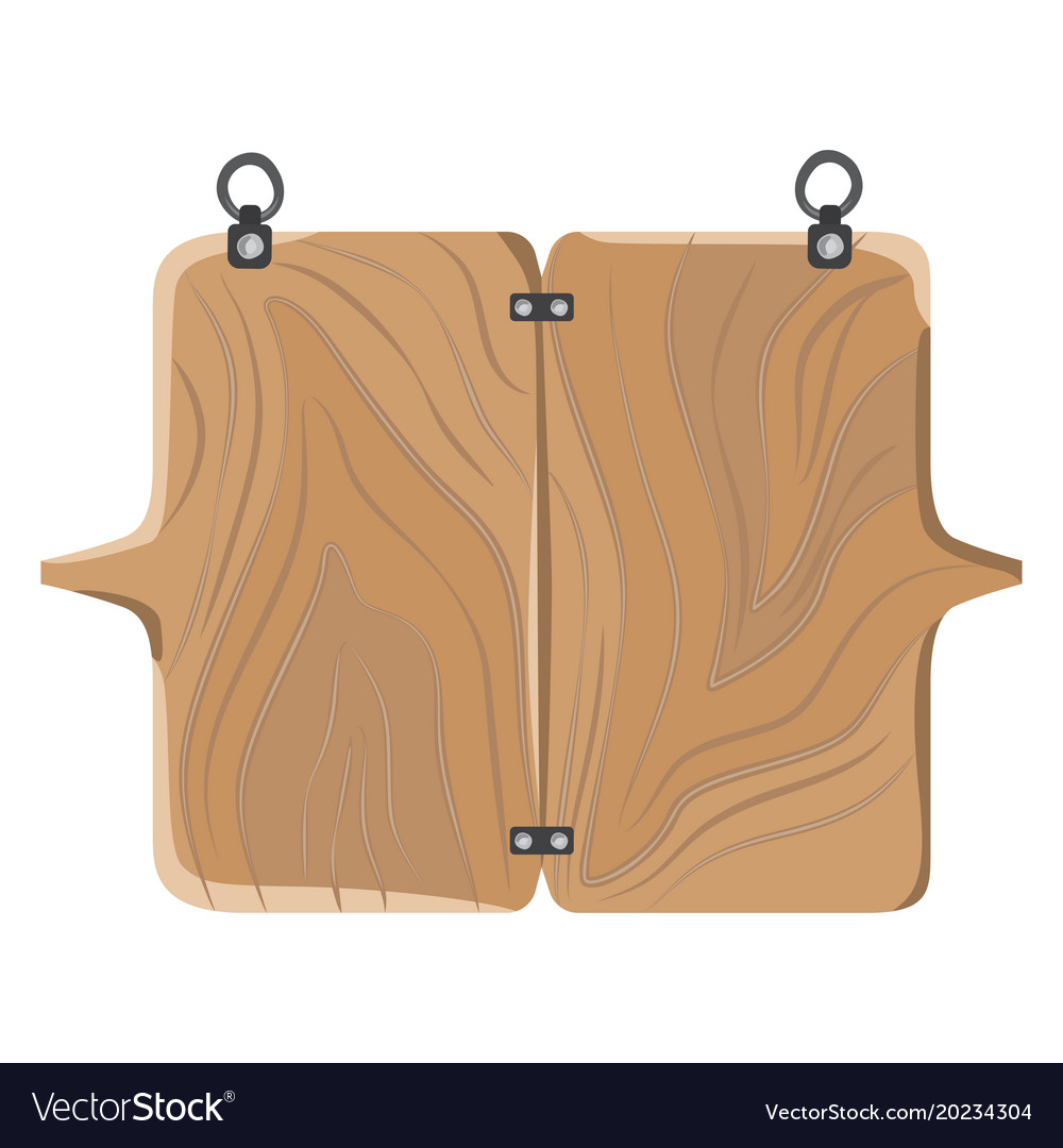 Wooden board with fastener