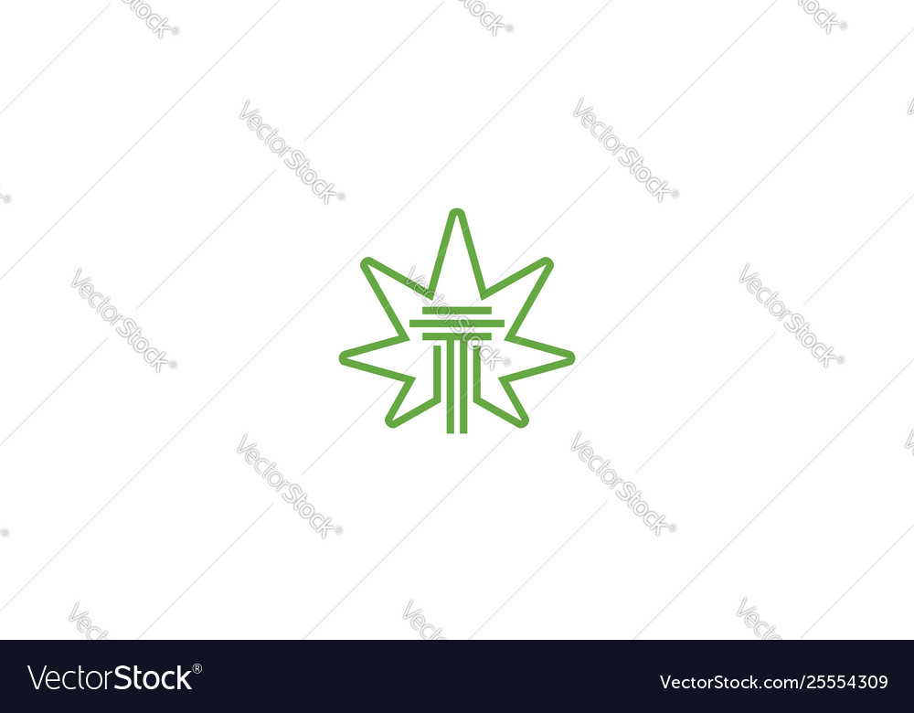 Cannabis law logo icon