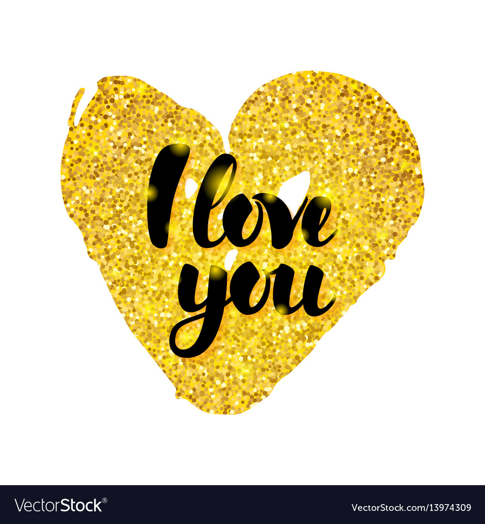 I love you gold card