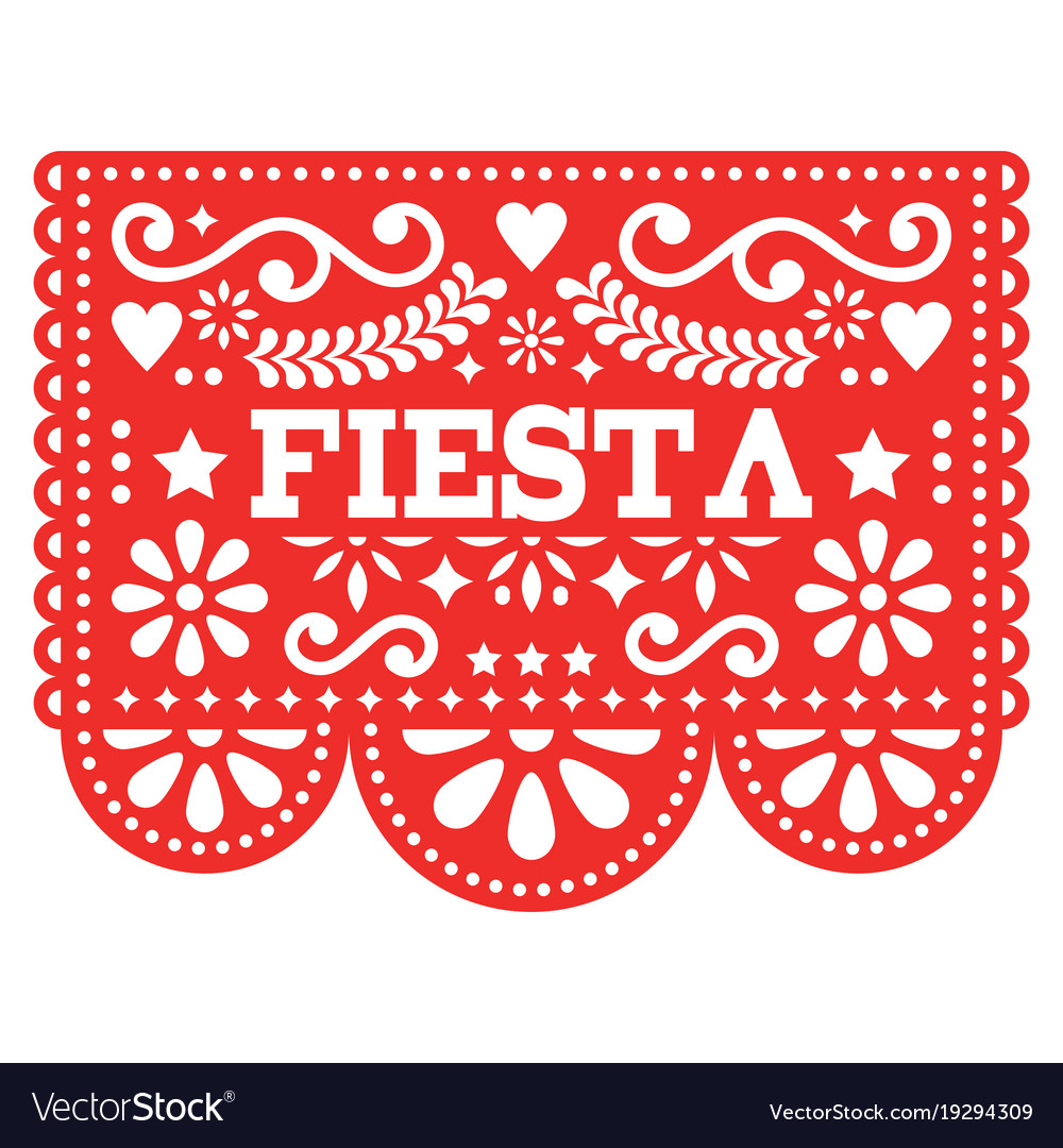 graphic about Papel Picado Template Printable identify Mexican fiesta papel picado style inside pink vector picture
