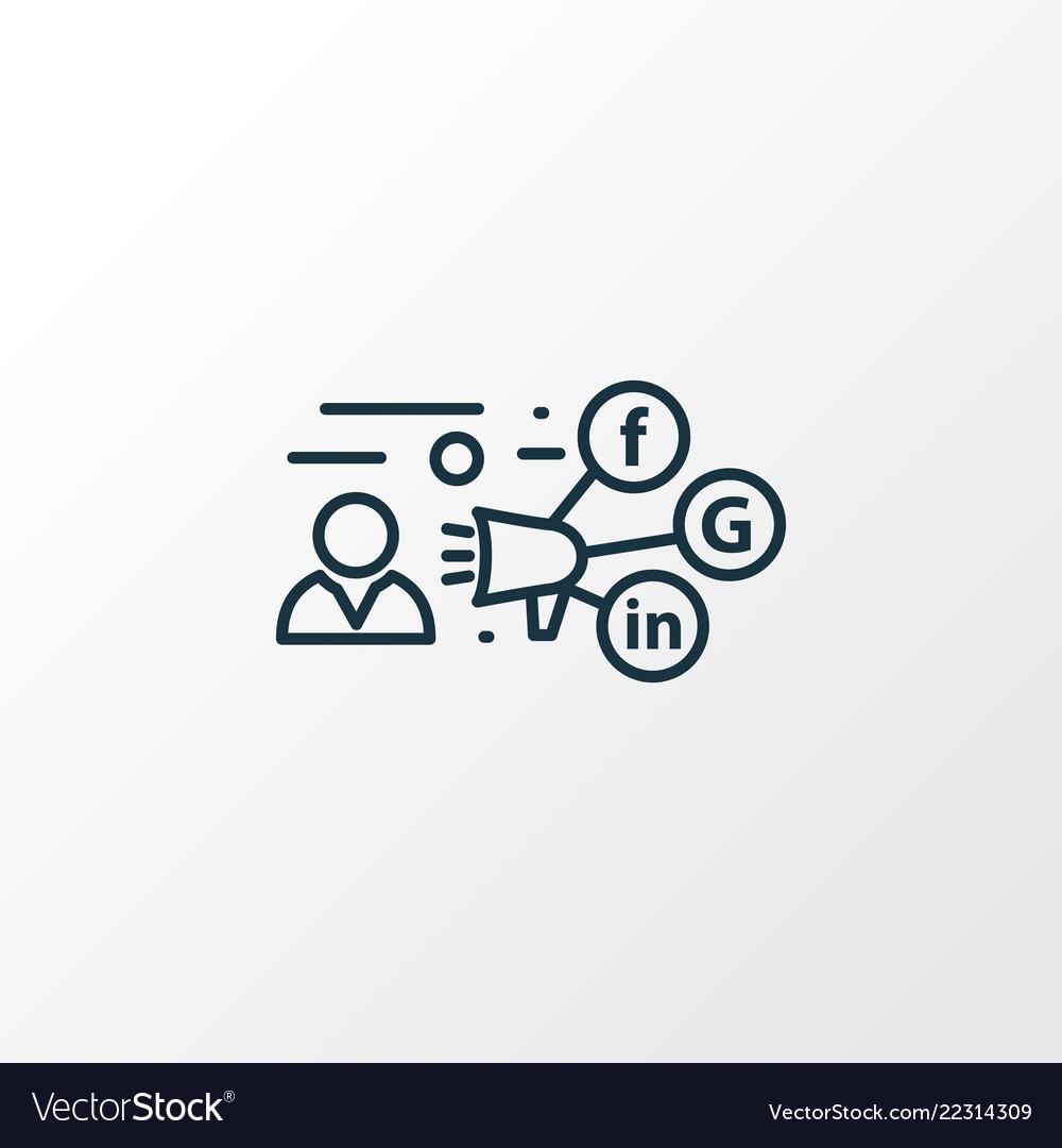 Promotion icon line symbol premium quality