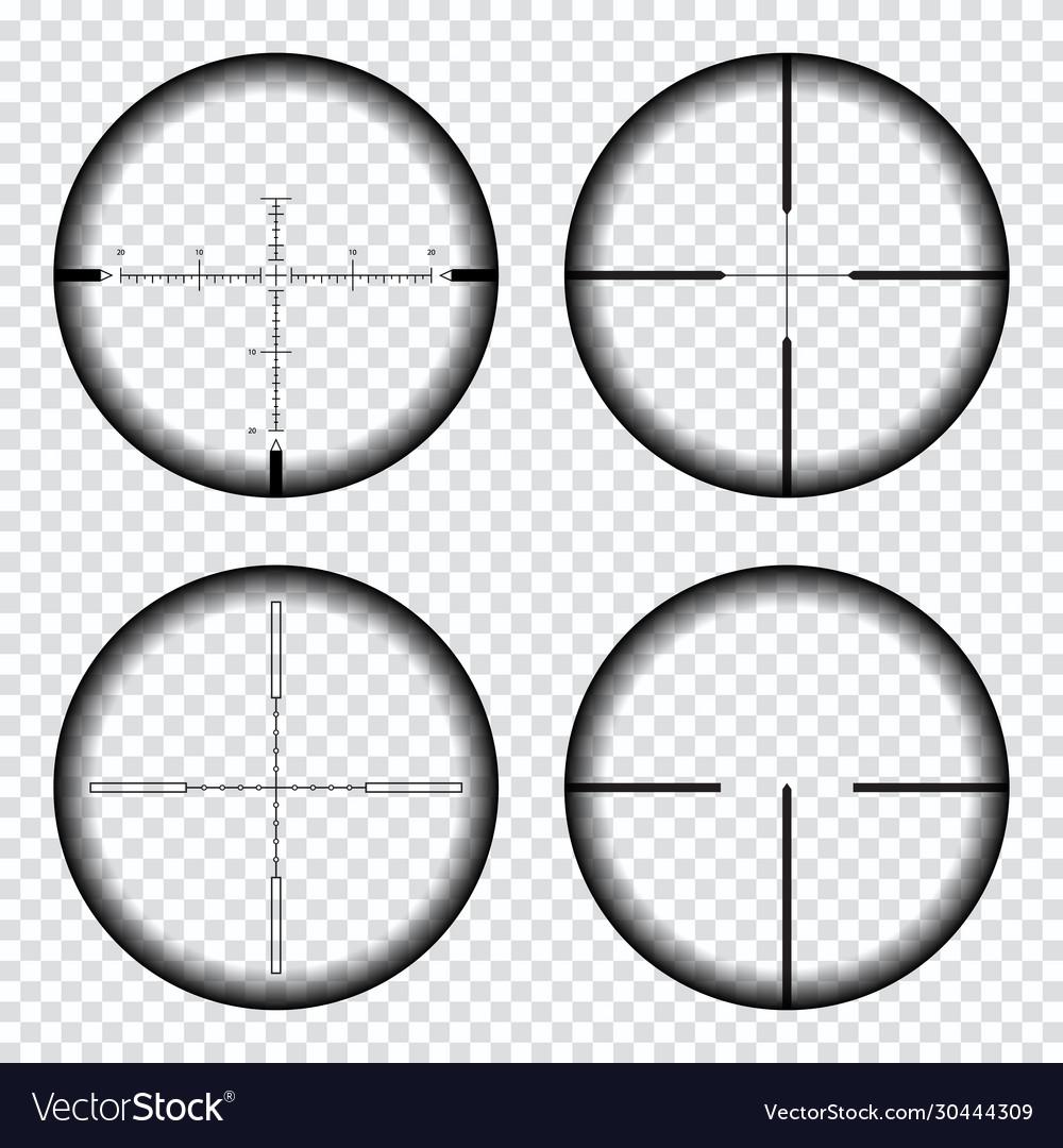 Sniper scope crosshairs view sniper rifle aim