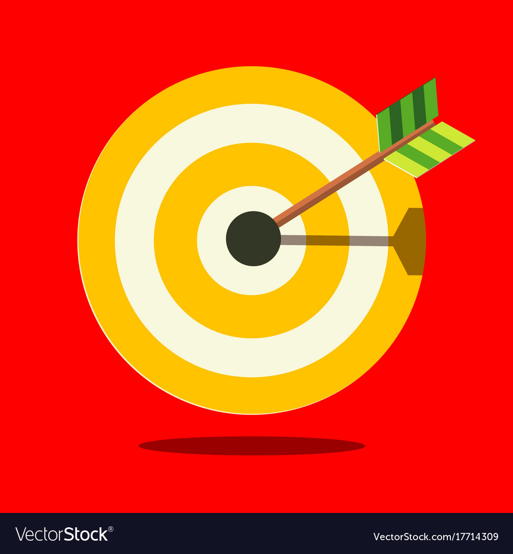 Target icon on red background