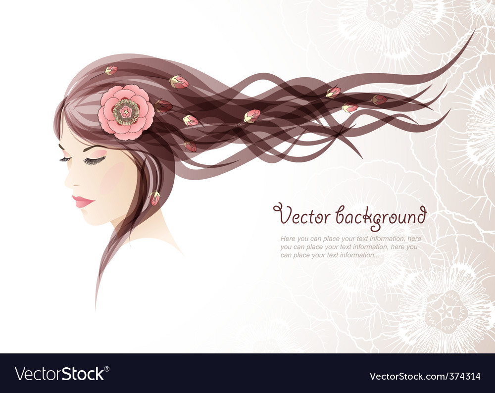Girl with colors in hair vector image