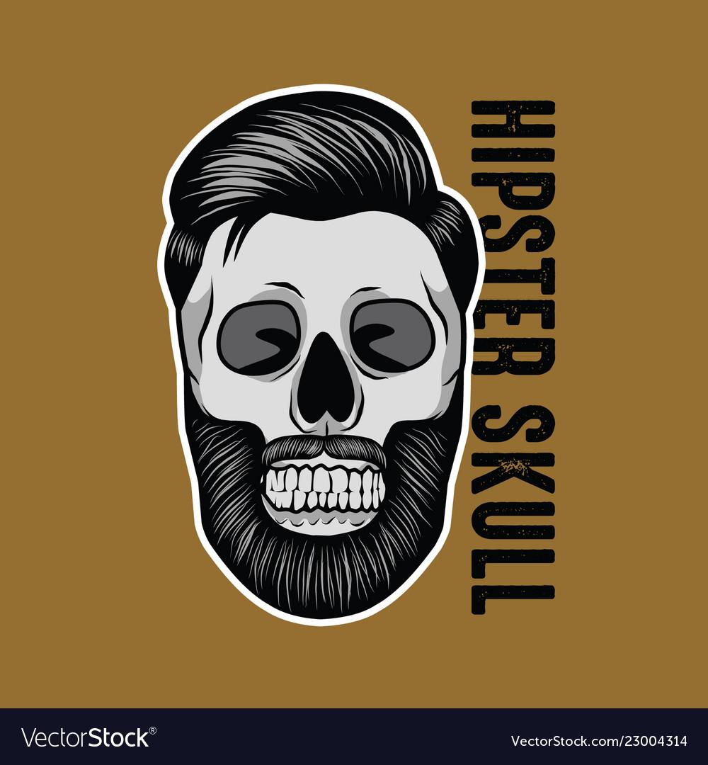 Hipster skull mascot
