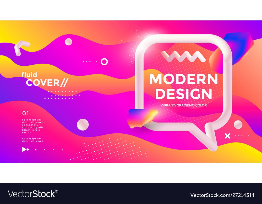 Modern design poster with 3d flow shape