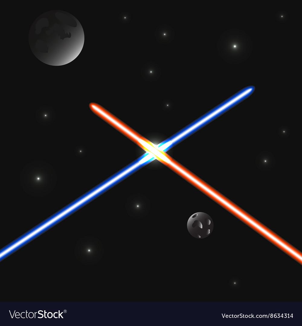 Set of color laser beams vector image