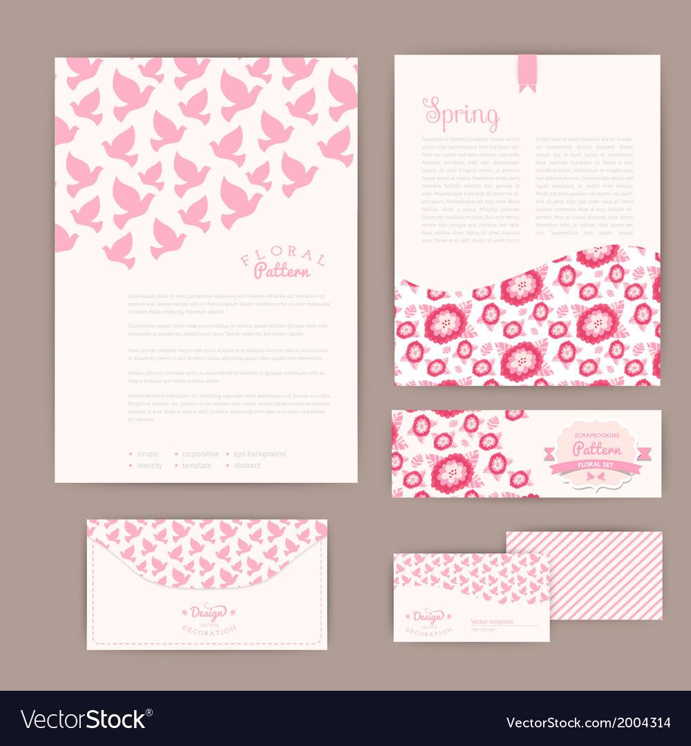 Set of floral vintage wedding cards invitations or