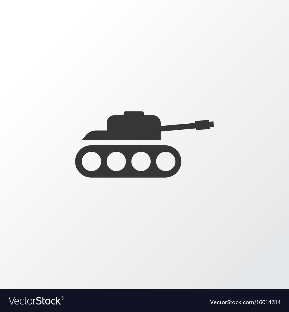 tank icon symbol premium quality isolated panzer vector image vectorstock