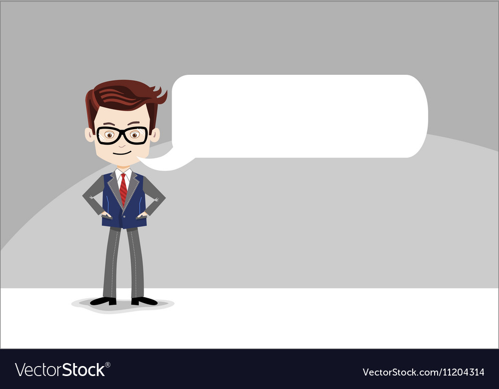 template for message cartoon character business vector image