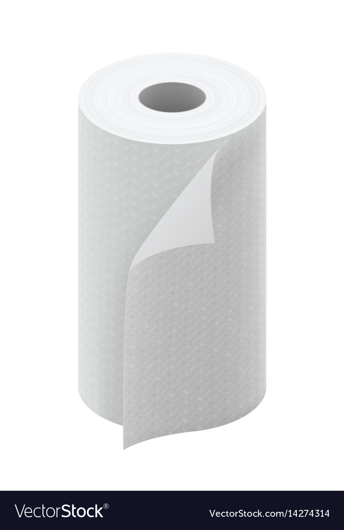 White paper kitchen towel roll vector image