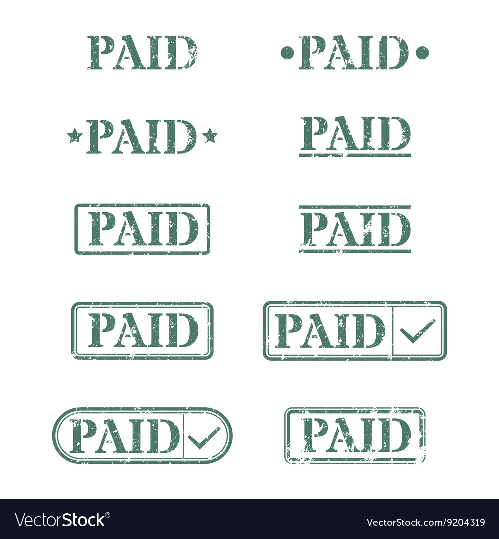 A set of stamps is paid