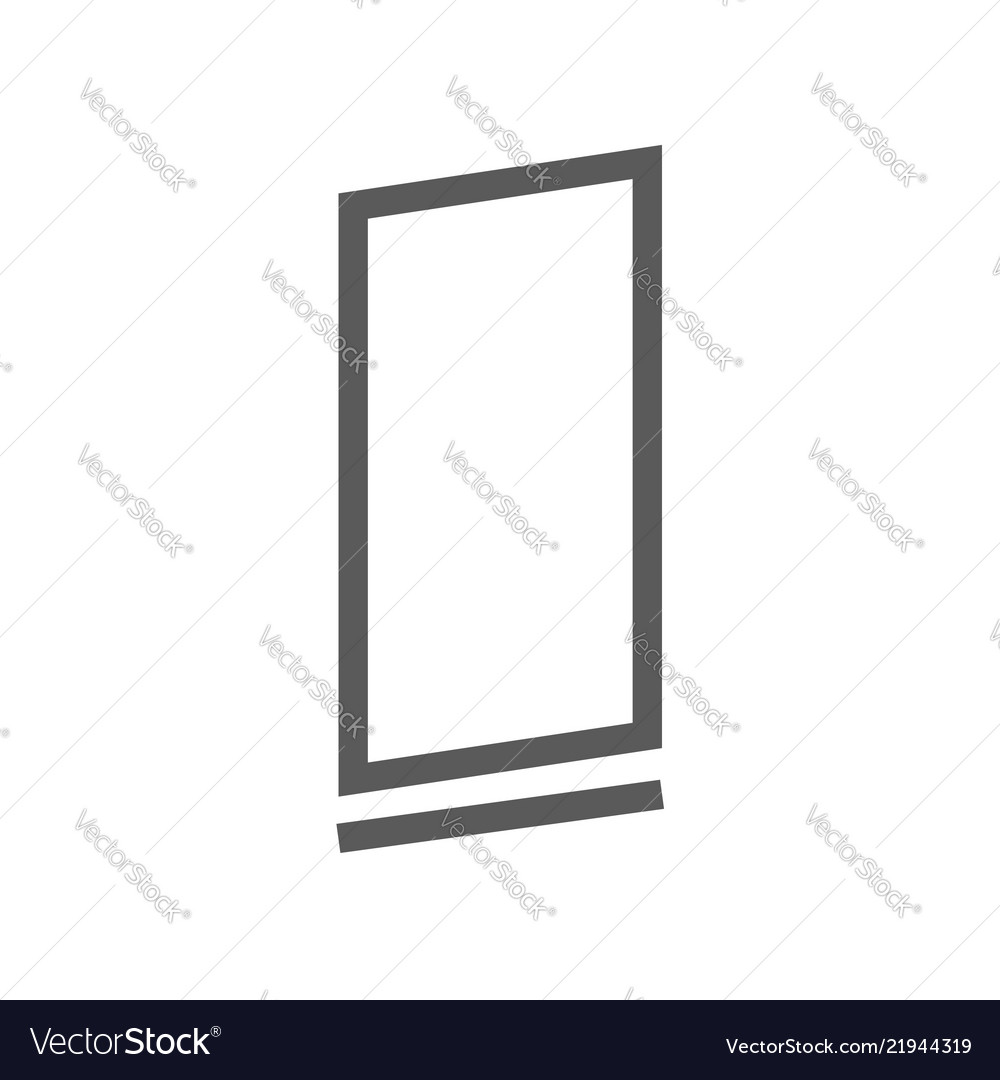 Advertising exhibition banner stands line icon