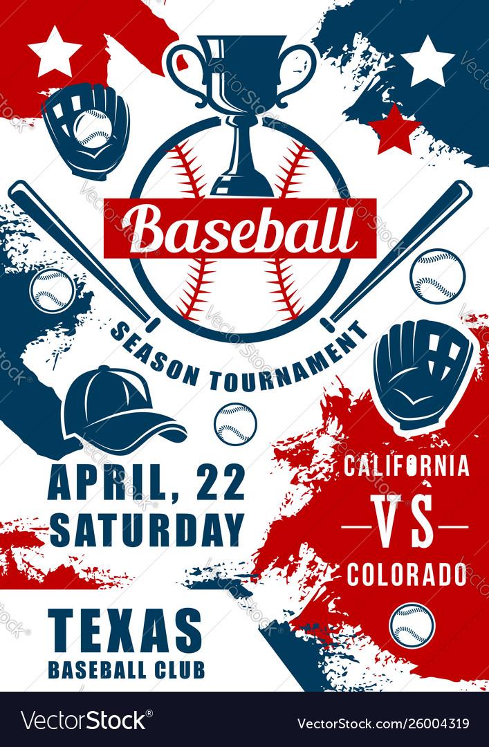 Baseball sport game balls bats glove with trophy