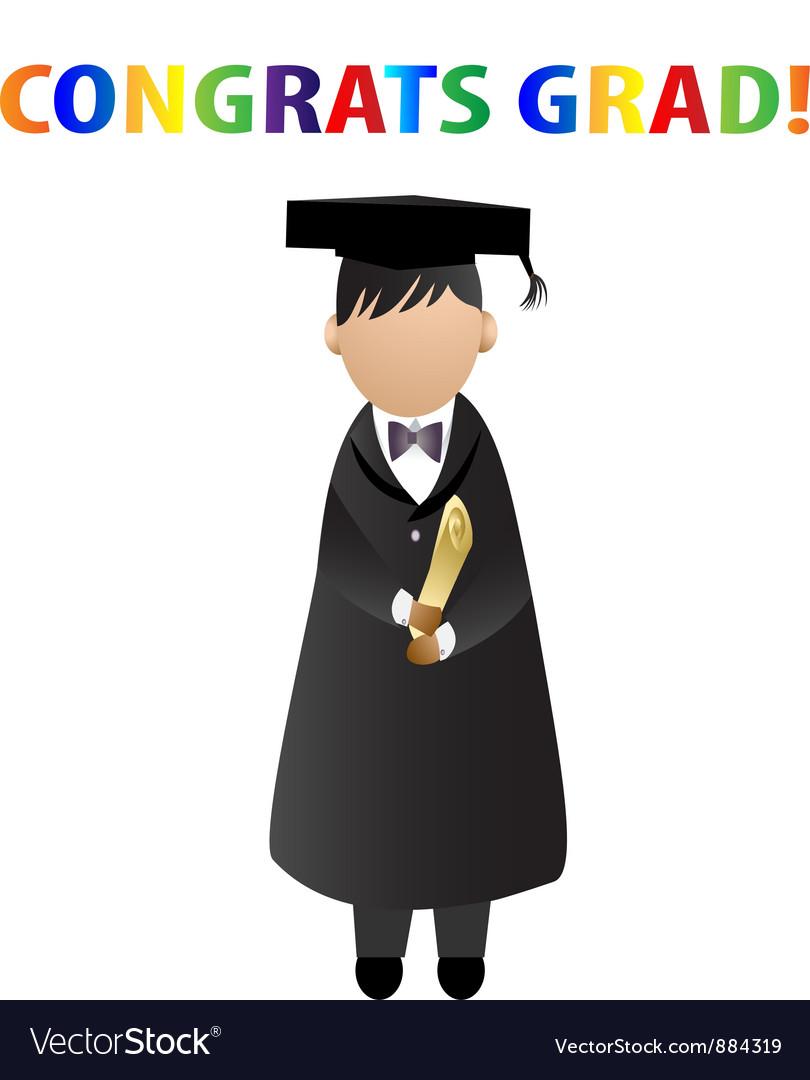 congrats grad card royalty free vector image vectorstock