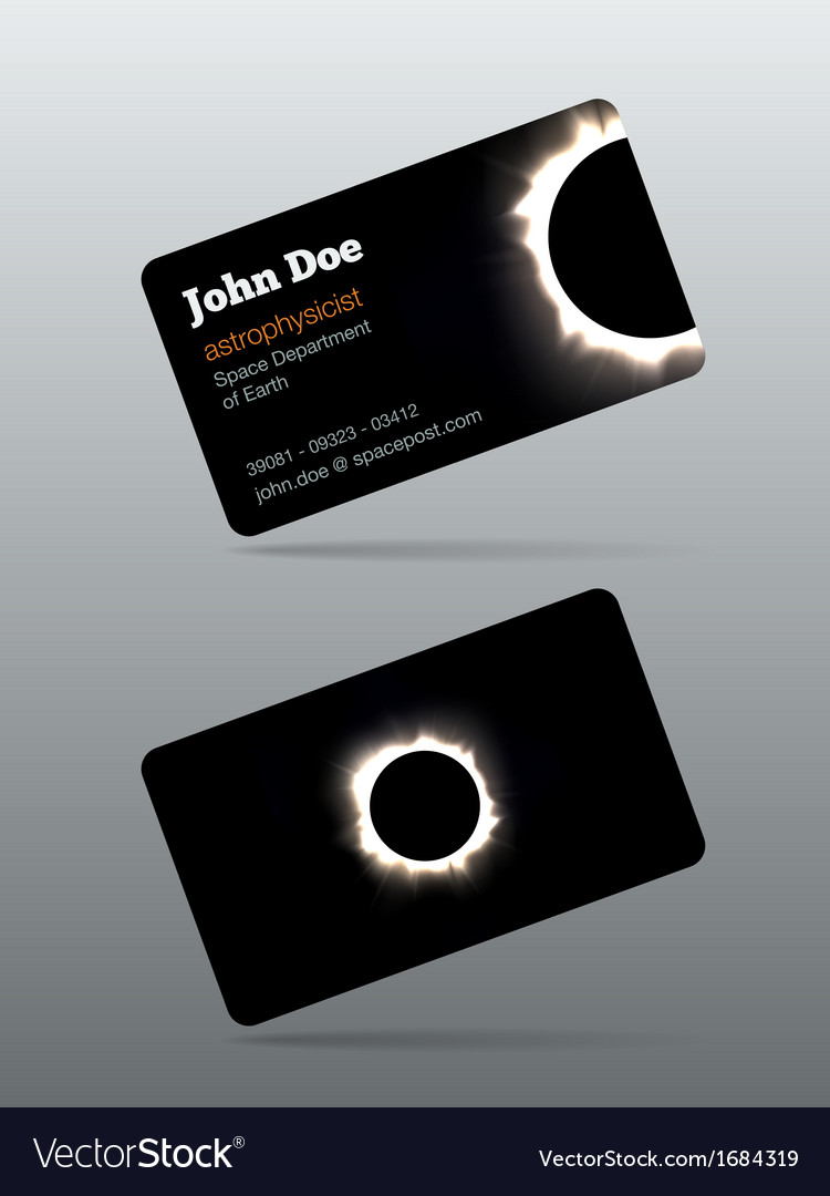 Eclipse calling card vector image