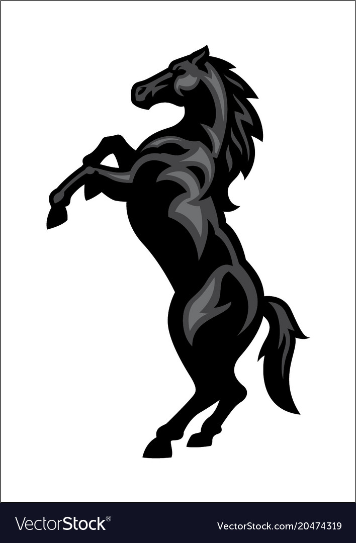 Horse mascot standing up Royalty Free Vector Image