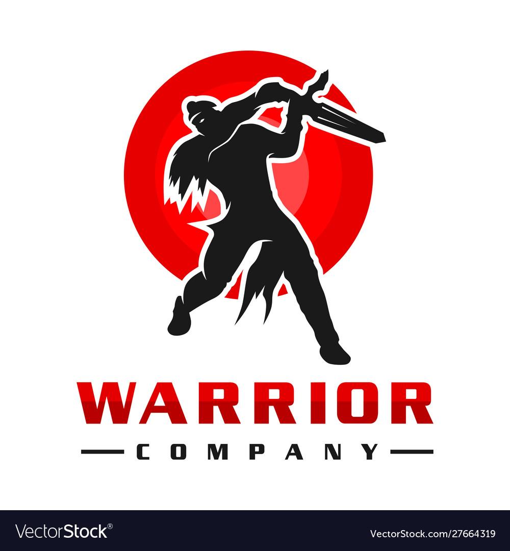 Japanese sword soldier logo design
