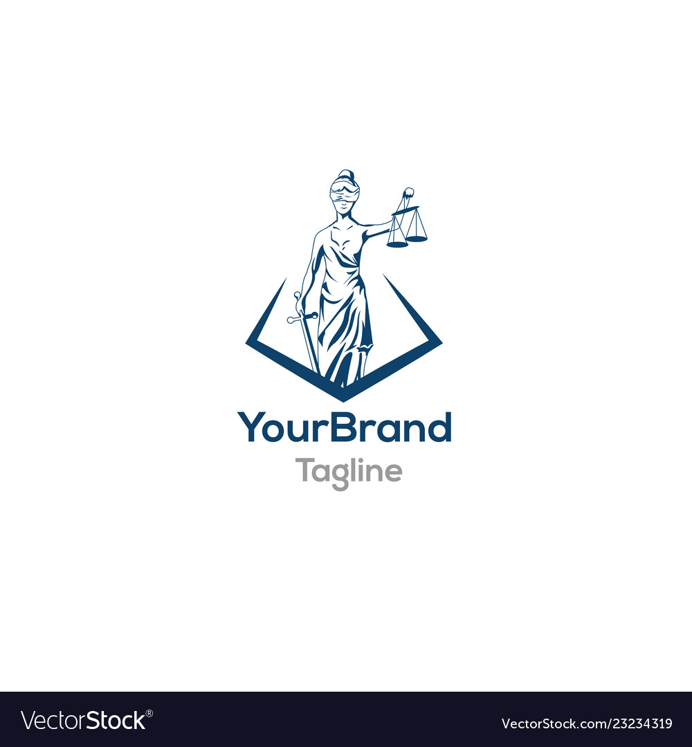Law and firm symbol logo template