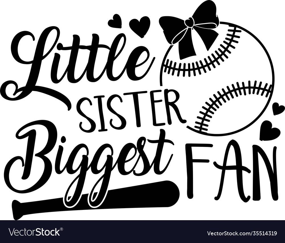 Little sister biggest fan on white background