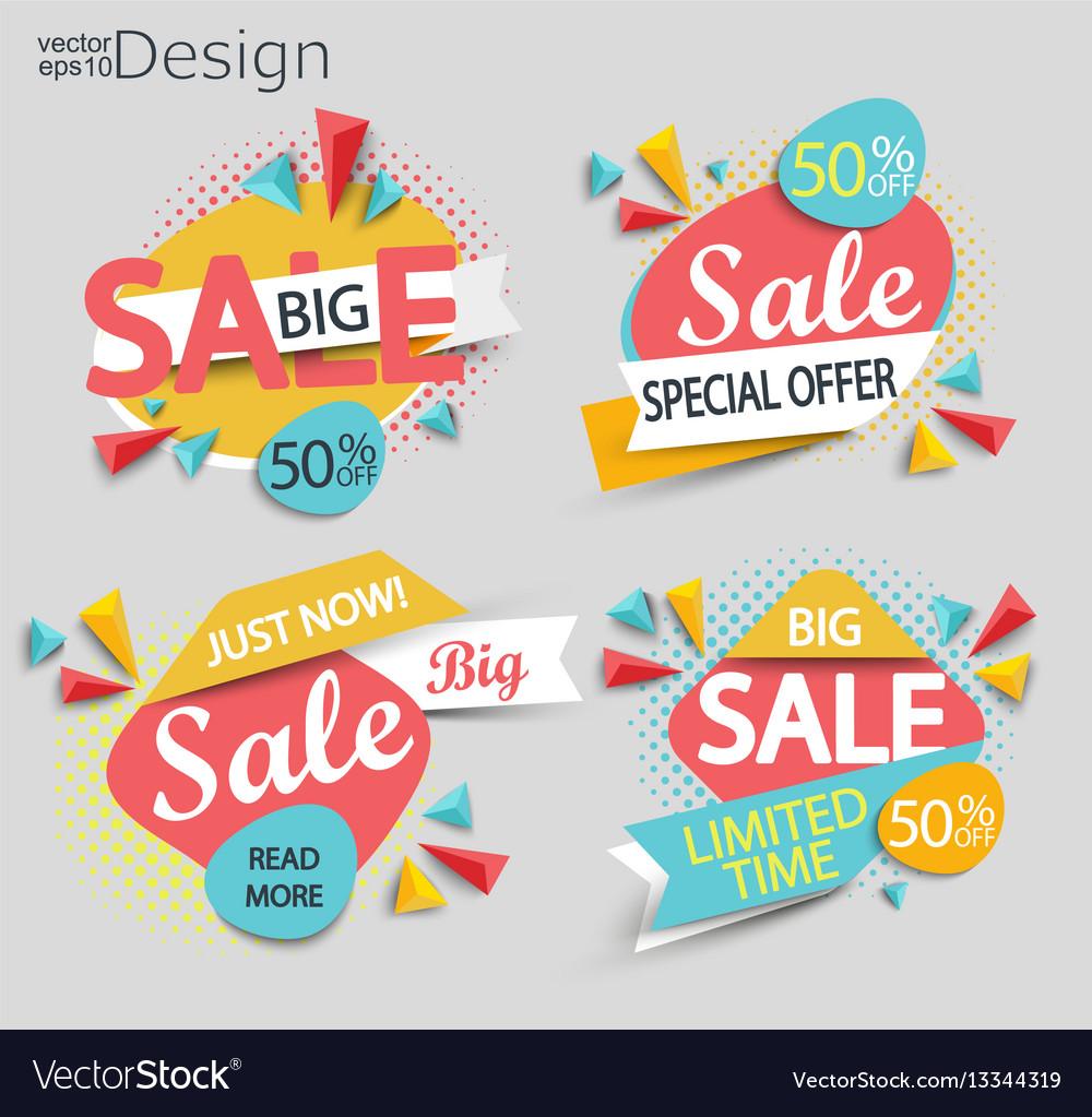 Sale - set of labels