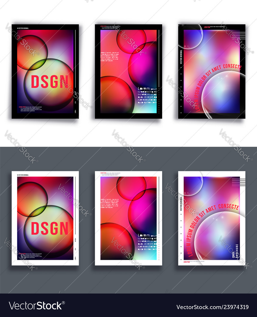 Set colorful gradient background template