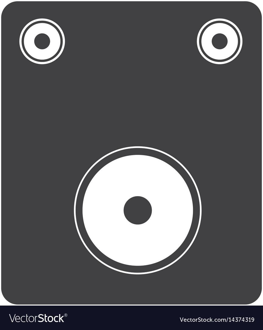 Speaker icon on white background speaker sign