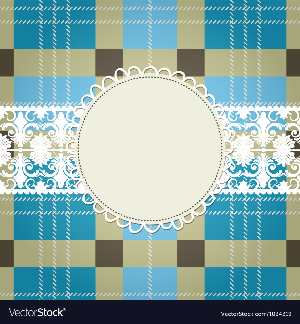 Textile background white lace frame vector image