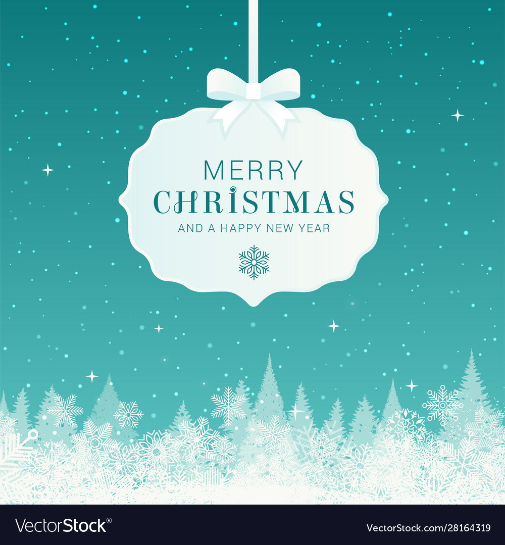 Winter christmas composition merry christmas text