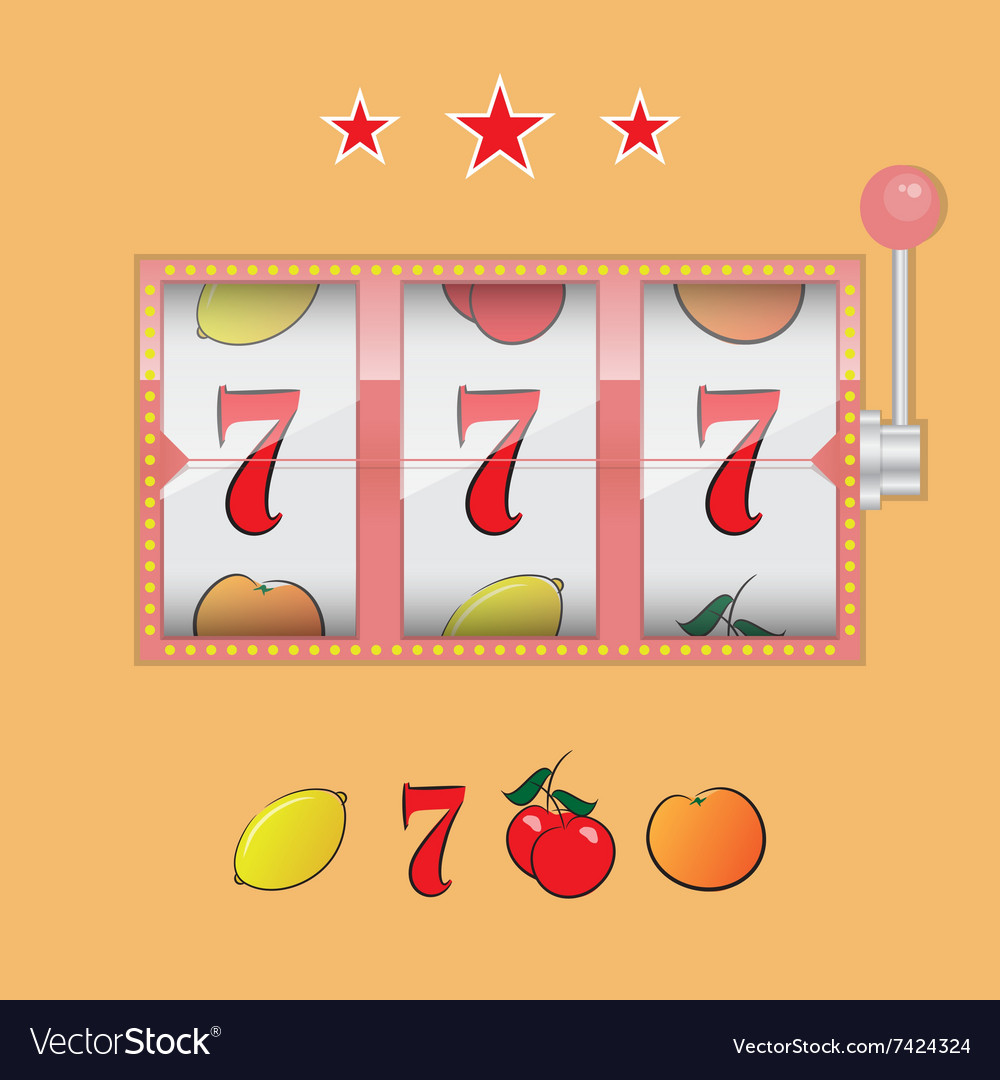 Casino slot machine vector image